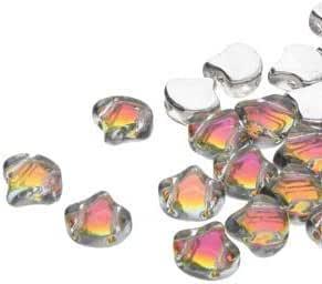 10g Amber Orange Opal MINIDUO Czech Glass Seed Beads Two Hole Mini Duo 2mm x 4mm