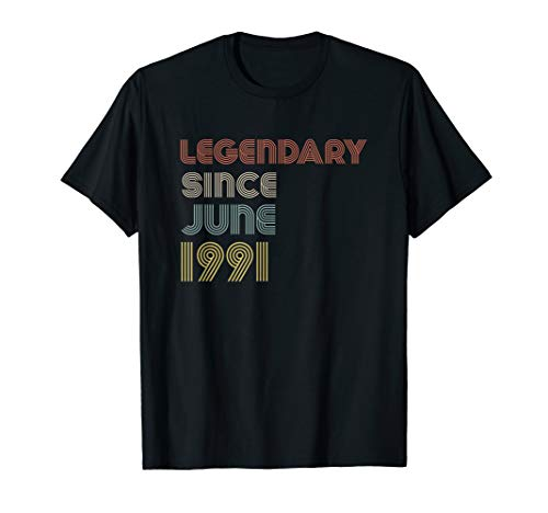 Retro Legendary Since June 1991 Birthday Legend Born Years  ()