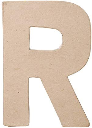 Darice Paper Mache Letter N 8 X 5.5 Inches 2 Pack