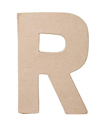 Darice Paper Mache Letter  R  8 x 55 x 1 inches