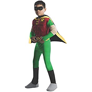Toddler Rubies DC Comics Teen Titans Deluxe Muscle Chest Robin Costume