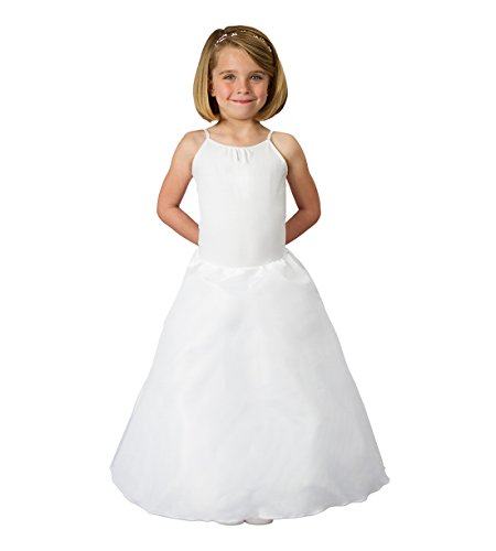 "Undercover Bridal 7721 Girls Crinoline 24"" with Cover, White, Regular"