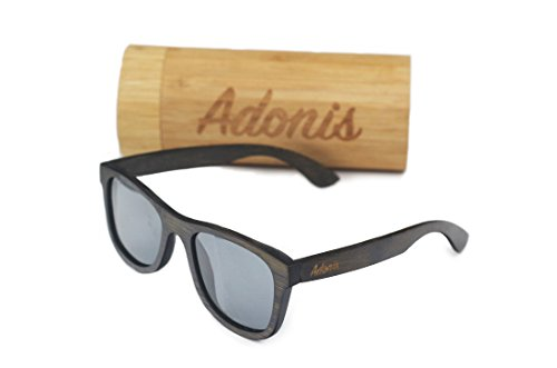 Mens Wayfarer Sunglasses - Bamboo Wood Frames with Polarized Lenses by - Makes Polarized What Better Sunglasses