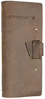 product image for Leather Hunting Log Book Designed for Hunters, Record Hunts for All Species, Hunting Journal 96 Pages
