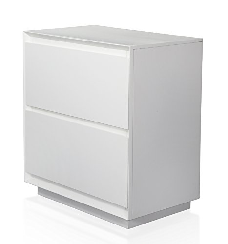 247SHOPATHOME IDF-7819N, nightstand, White by 247SHOPATHOME