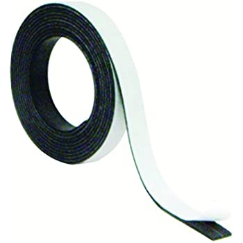 MasterVision Magnetic Adhesive Tape Roll, 1/2 Inch x 7 Feet, Black (FM2319)