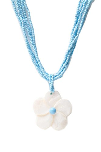 Barbra Collection Mother of Shell Flower Hawaiian Necklace (Hawaiian Pearl Of Mother Flower)