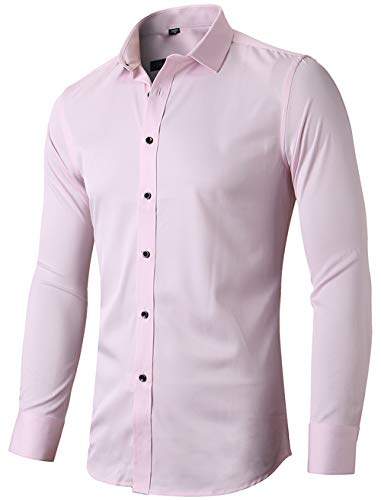 Mens Fiber Casual Button Up Slim Fit