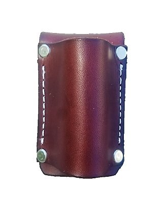 Leather Flashlight Holster for AA Battery Flashlights - Heavyduty Made in USA (Dark Brown (Rivet)) by AP Saddlery