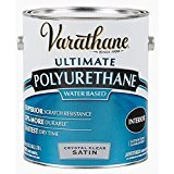 Floor Varnish Clear Satin - Rust-Oleum Varathane 200241H 1-Quart Interior Crystal Clear Water-Based Poleurethane, Satin Finish - 2 Quart