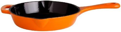 Gusseisenkuss Pfanne aus Gusseisen, Orange, Ø 26 cm