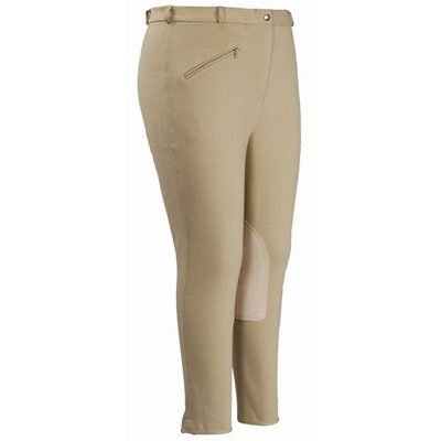 Ladies Cotton Knee Patch Breeches - 2