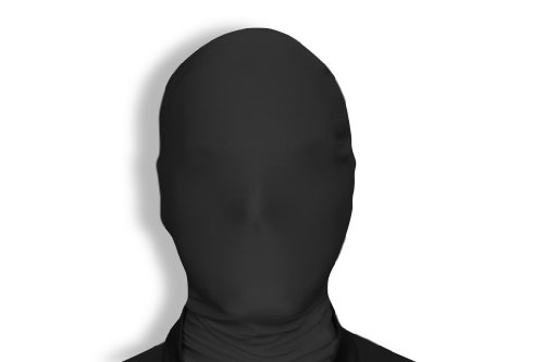 All Black Costumes For Halloween (Morphsuits Morphmask Original, Black, One Size)