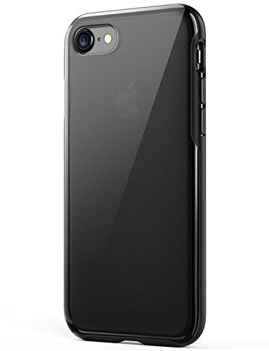 Anker iPhone 8 Case, iPhone 7 Case, KARAPAX Ice Case, Semi-Transparent Hard Back and Soft Bumper [Support Wireless Charging] [Slim Fit] for Apple 4.7 in iPhone 8 (2017) / iPhone 7(2016) - Black ()