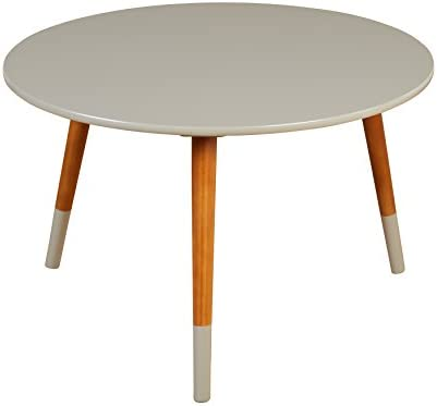 Target Marketing Systems Livia Collection Ultra Modern Round Coffee Table With Splayed Leg Finish, Gray Wood