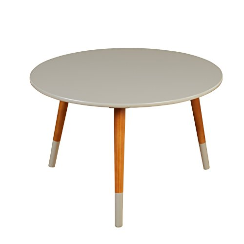 Target Marketing Systems Livia Collection Ultra Modern Round Coffee Table With Splayed Leg Finish, Gray/Wood (Target Coffee)