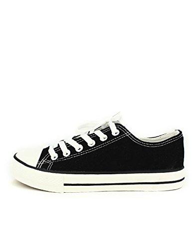 Toile Noir Cenvers Chaussures Cendriyon Basket Grandes Femme Noire Pointures 4AqRxF