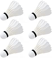Badminton Shuttlecocks, 6 Pcs High Badminton Birdiesg for Outdoor&Indoor Sports Activi