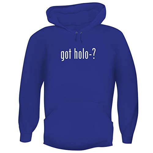 (One Legging it Around got Holo-? - Men's Funny Soft Adult Hoodie Pullover, Blue,)
