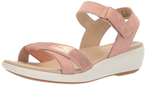 (Hush Puppies Women's Lyricale QTR Strap Pump Pale Peach Nubuck 11 W US)