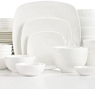 The Cellar Dinnerware White Elements \  H&ton Soft Square 42 Piece Set  sc 1 st  Amazon.com & Amazon.com | Jamie Oliver Keeping It Simple 12-Piece Dinnerware Set ...