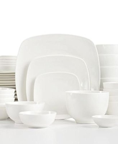 The Cellar Dinnerware White Elements u0026quot; H&ton Soft Square 42 ...  sc 1 st  Amazon.com & Amazon.com | The Cellar Dinnerware White Elements