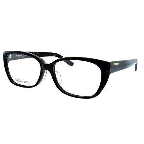 YSL Saint Laurent YSL 4021 J 086 Dark Havana Brown Full rim cat eye Eyeglasses