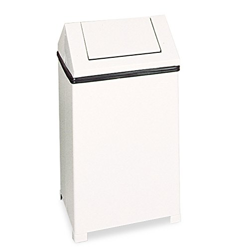 Hinged Top Trash Receptacle - RCPT1940ERBWH - Rubbermaid 40-gallon Hinged Top Receptacle