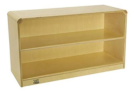 All-Birch Veneer Panel 24-5//8 x 13-3//4 x 32-1//2 Natural Wood Tone Korners for Kids 272164 Storage Cabinet 2 Shelf 4-Coat UV Acrylic