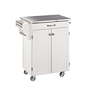 Home Styles Create-a-Cart Series Cuisine Cart with Stainless Top