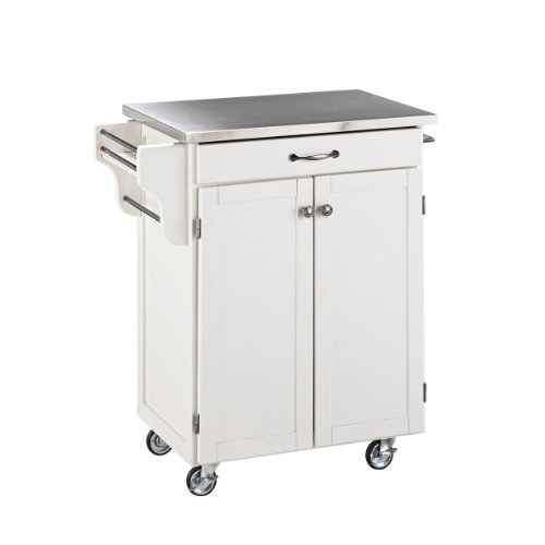 (Create-a-cart White with Stainless Steel Top by Home Styles)