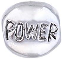 Beads Charm Element Power - mehr Angebote an Tiere Set Schwarz Weiß blau grün Rosa/Charms Kompatibel Armband Silber Beads Bart Perle Bettelarmband Charms Motiv - by AKKi