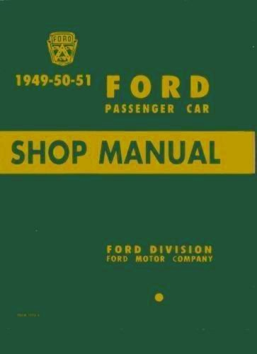 1949-1951 Ford Car Repair Shop Manual
