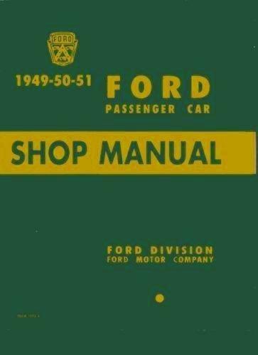 1949-1951 Ford Car Repair Shop Manual Original ()