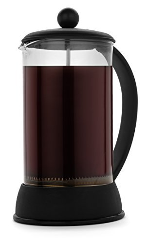 FP Coffee Maker French Press Coffee Maker w/ Glass Carafe and Sturdy Plastic Frame: 34 oz (8 cup) capacity; black Review