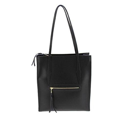 Fashiongen - Bolso estilo bolera para mujer negro