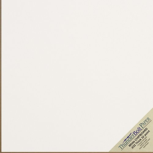 10 Sheets Chipboard 32pt white 1 side - 12