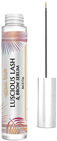 Naturelle's Luscious Lash Advanced Eyelash and Eyebrow Growth Serum with Widelash, Helps Produce Up to Three Times More Volume in 15 Days