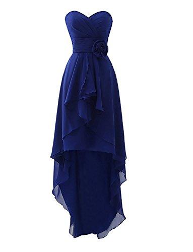 Spalline Delle Senza Di Vestiti Da Asbridal Alta Damigella Bassi Abiti Blu Royal Chiffon Donne Cuore 8cUvnxqqW