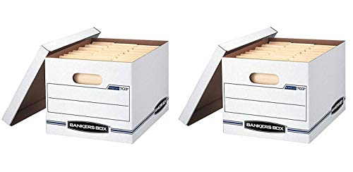(Bankers Box STOR/File Storage Boxes, Standard Set-Up, Lift-Off Lid, Letter/Legal (57036-04) (2 X Pack of 6))