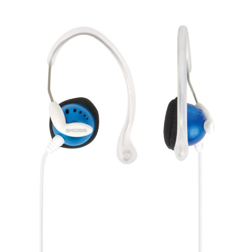 Blue Sportclip - Sportclip¿ Lightweight Clip-on Stereophone with In-line Volume Control
