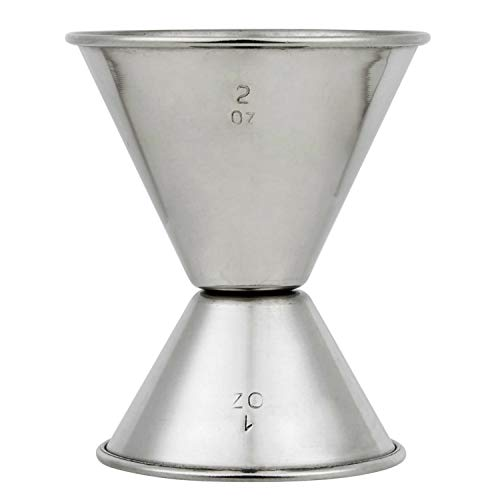 Stainless Steel Jigger 2 oz 1 oz Double Cocktail Jigger for Bartending with Measurements Home Kitchen Bar Drinkware…