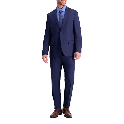 Haggar Men's Active Series Stretch Slim Fit Suit Separate Coat, Midnight, 42S