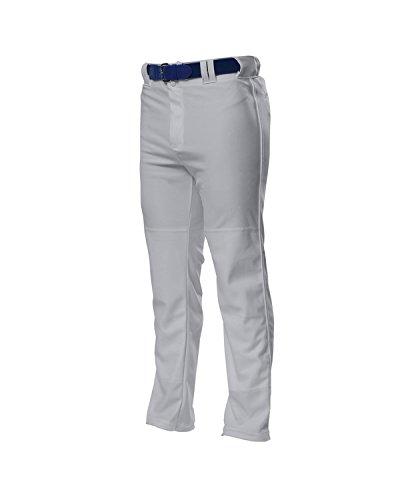 A4 N6162-GRY Pro-Style Open Bottom Baseball Pants, X-Large, Gray (Pro Style Baseball Jersey)