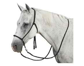 (Mustang Nylon Bitless Bridle w/Reins Black)