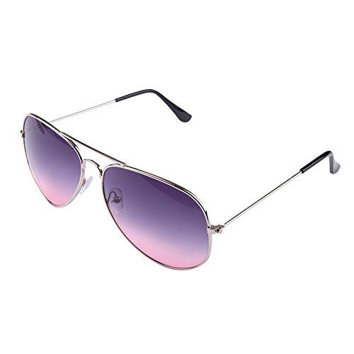 MSmask Outdoor Sunglasses Unisex Women Fashion Two Color Mirror Lens Glasses Aviator