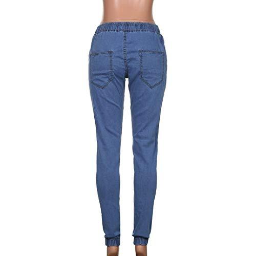 Jeans Pantaloni Giovane Moda Ssige Aderenti Streetwear Elastico Uomo Lunghi In Fit Denim Nero Slim Dritti xUxW5zn
