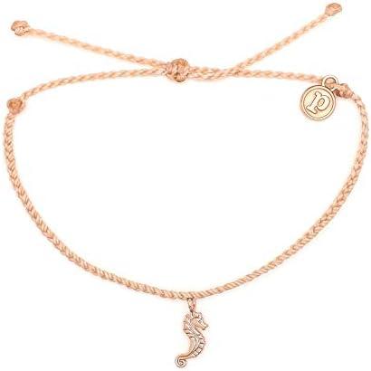 Pura Vida Rose Gold Seahorse Bracelet - Waterproof, Artisan Handmade, Adjustable, Threaded, Fashion Jewelry for Girls/Women 1