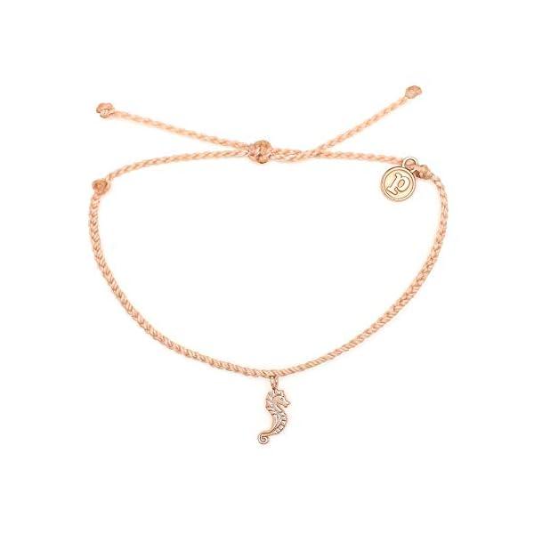 Pura Vida Rose Gold Seahorse Bracelet – Waterproof, Artisan Handmade, Adjustable, Threaded, Fashion Jewelry for Girls/Women
