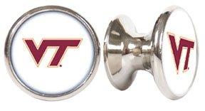 Virginia Tech Hokies NCAA Stainless Steel Cabinet Knobs / Drawer Pulls (2-pack)
